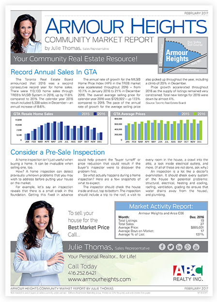 Real Estate Direct Mail Newsletter  Realtor Newsletter